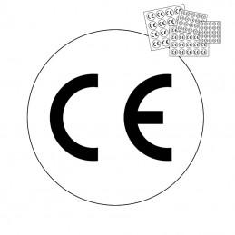 CE mærkat - rundt