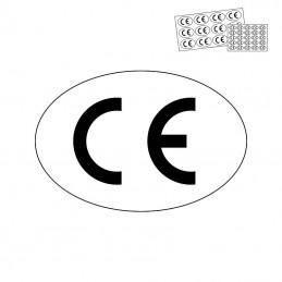 CE mærkat - ovalt