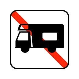 pictogram - autocamper forbudt