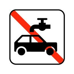 pictogram - bilvask ikke tilladt