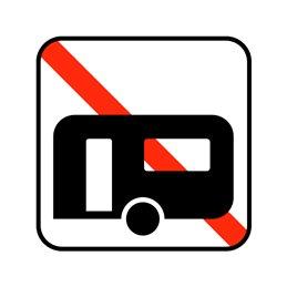 pictogram - campingvogne forbudt