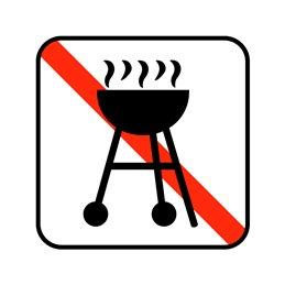 pictogram - grill forbudt