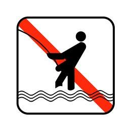 pictogram - fiskeri forbudt