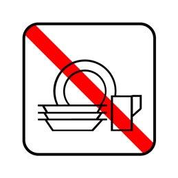 pictogram - ingen opvask
