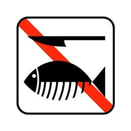 pictogram - ingen rensning af fisk