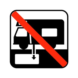 pictogram - tanktømning forbudt
