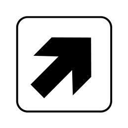 pictogram - retningspil skrå