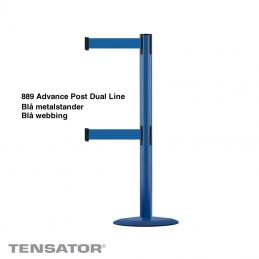 Tensator advance dual line blå