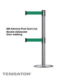 889T2 Advance Post Dual Line - Børstet stål