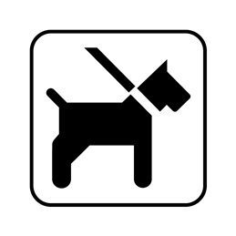 dansk standard - hund i snor