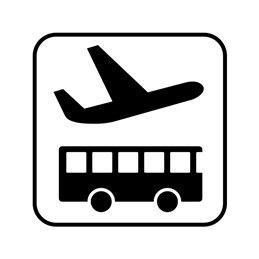 pictogram/piktogram - Lufthavns shuttle