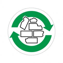 pictogram / piktogram - Bygningsaffald genbrug
