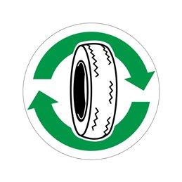 pictogram / piktogram - Bildæk genbrug