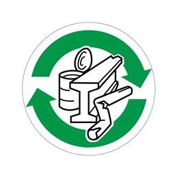 pictogram / piktogram - Metal genbrug