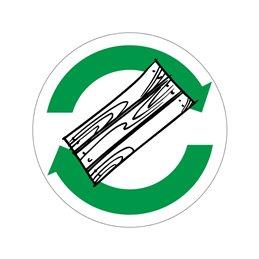 pictogram / piktogram - Affaldstræ genbrug