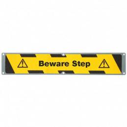 Aluplade med m2 Hazard Warning Tekst