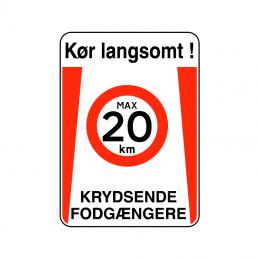 kør langsomt krydsende fodgængere