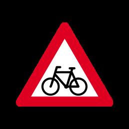A 21 - Cyklister på kørebanen