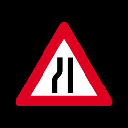 A 43.2 - Indsnævret vej i venstre side