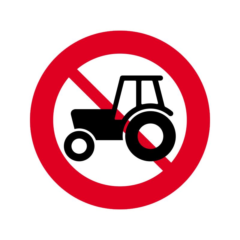 C24.1 - Traktor og motorredskab forbudt