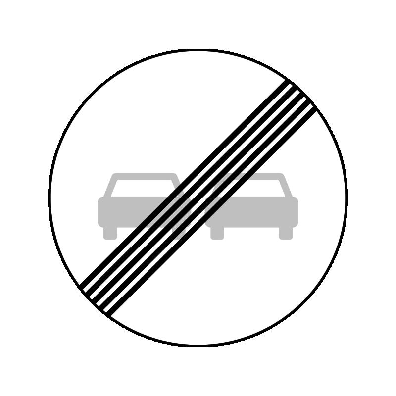 C53 - Ophør af overhaling forbudt