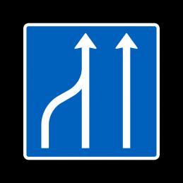 E16.1.4 - Vognbaneforløb med sammenfletning