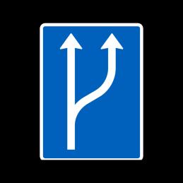E16.1.6 - Vognbaneforløb med vognbaneforøgelse
