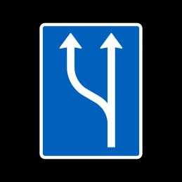 E16.1.7 - Vognbaneforløb med vognbaneforøgelse