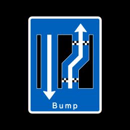 E16.3.02 - Forsætning til højre med bump