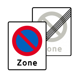 E68.1/E69.1 - Zone med parkering forbudt / Ophør