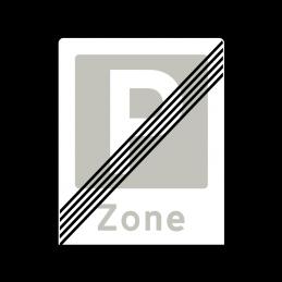 E69.3 - Ophør af Zone med parkering