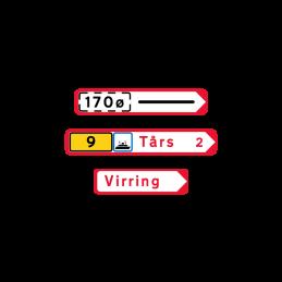 F11 - Pilevejviser rød/hvid - enkeltsidet