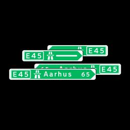 F12 - Pilevejviser grøn/hvid - dobbeltsidet