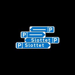 F33.1 - Pilevejviser blå/hvid - dobbeltsidet