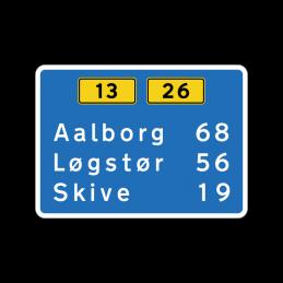 H41 - Afstandstavle