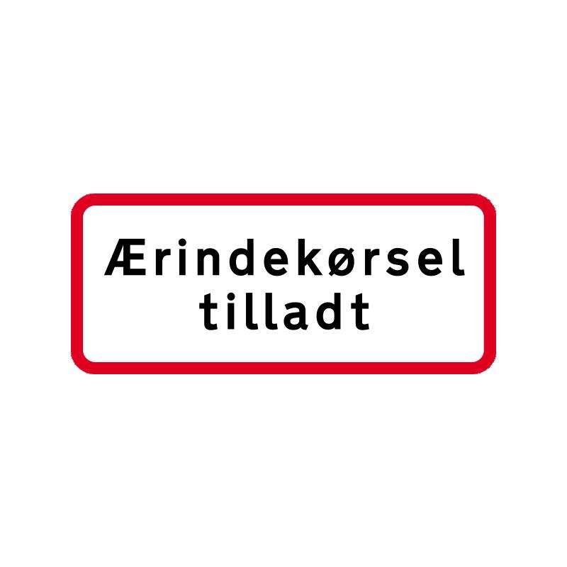 UC 20.2 - Ærindekørsel tilladt