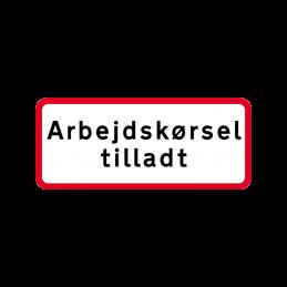 UC 20.8 - Arbejdskørsel tilladt
