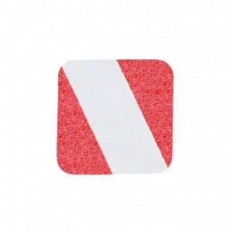 m2 Hazard Warning - rød/hvid
