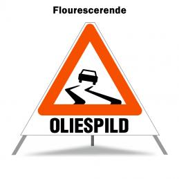 Foldeskilt - A31 + Oliespild