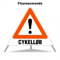 Foldeskilt - A99 + Cykelløb
