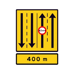 E 16.8.1 - Vognbaneforløb