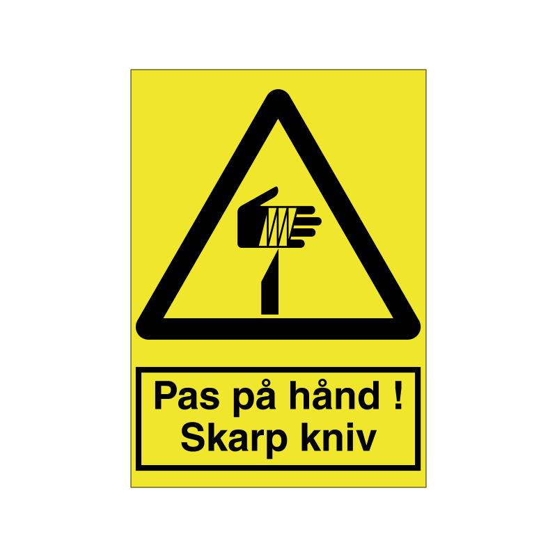 Pas på hånd / skarp kniv