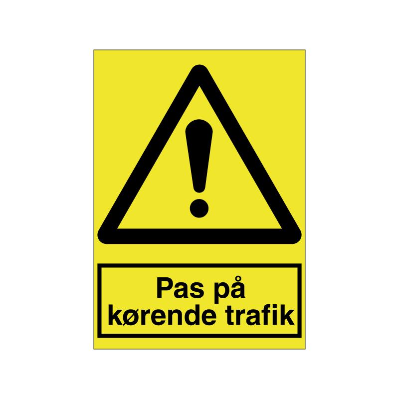 Pas på kørende trafik