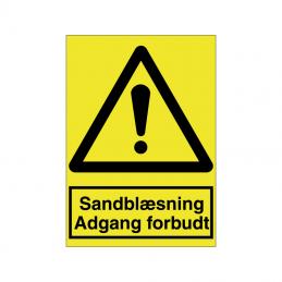 Sandblæsning Adgang forbudt