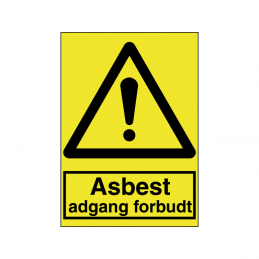 Asbest adgang forbudt