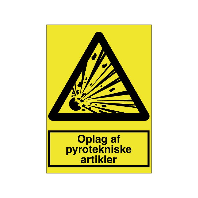 Oplag af pyrotekniske artikler