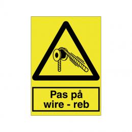 Pas på wire - reb