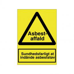 Sundhedsfarligt at indånde asbeststøv