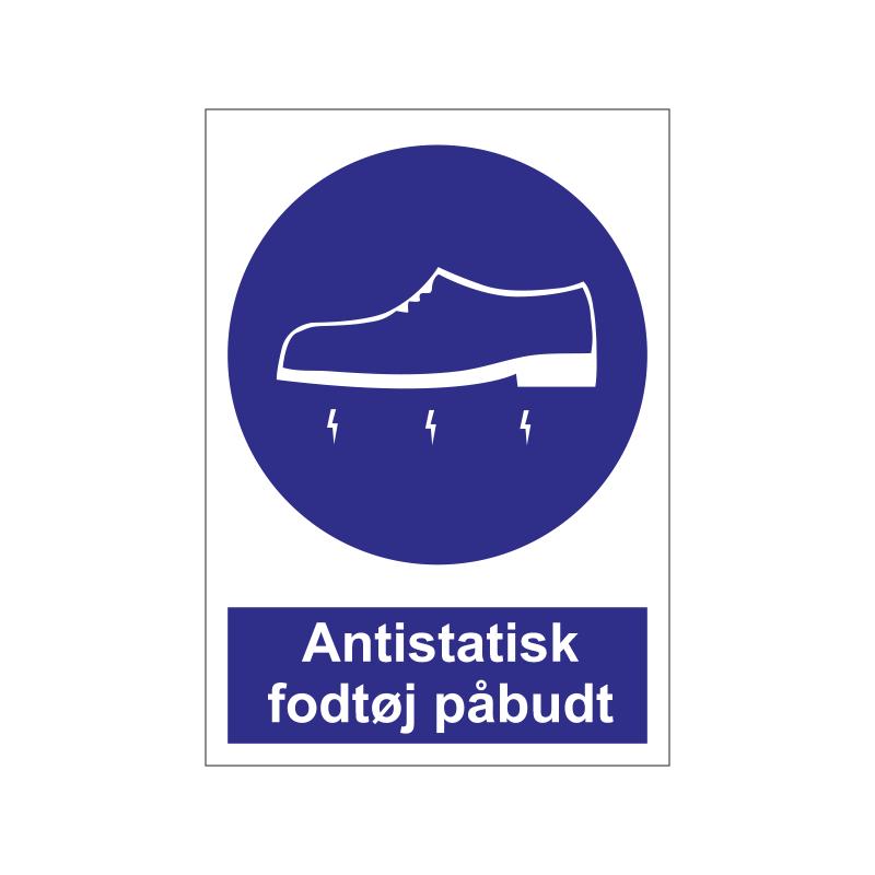 Antistatisk fodtøj påbudt