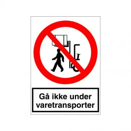 Gå ikke under varetransporter